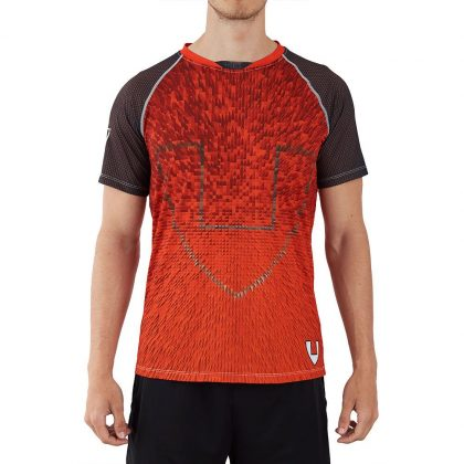 Camiseta deporte hombre naranjaa