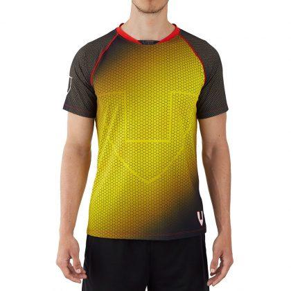 Camiseta deporte hombre técnica amarilla