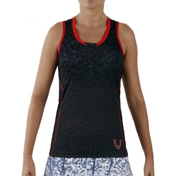 camiseta deporte técnica sin mangas negra