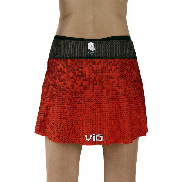 Falda pantalón deporte roja