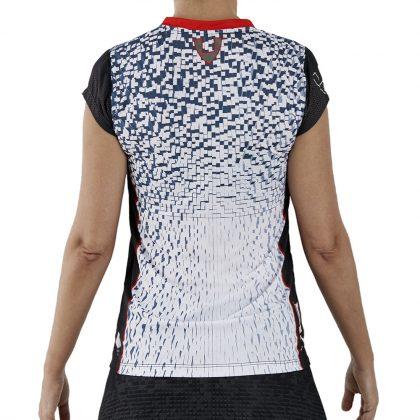 camiseta deporte técnica manga corta blanca