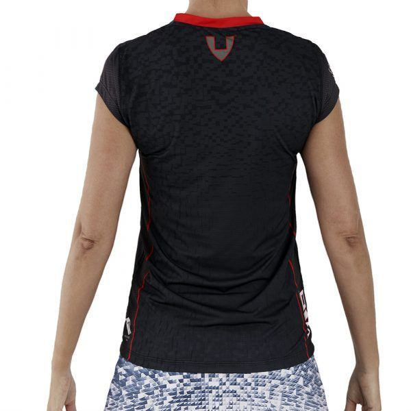 camiseta deporte técnica manga corta negra
