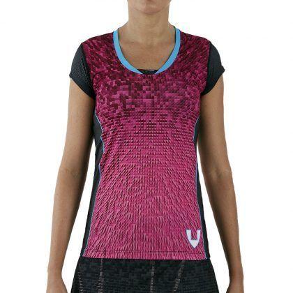 camiseta deporte técnica manga corta rosa
