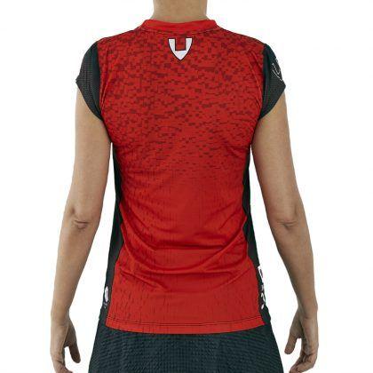 camiseta deporte técnica manga corta roja