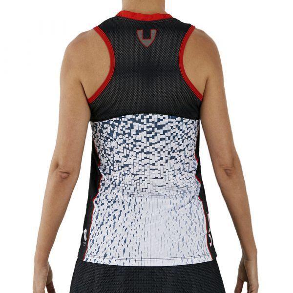 camiseta deporte técnica sin mangas blanca