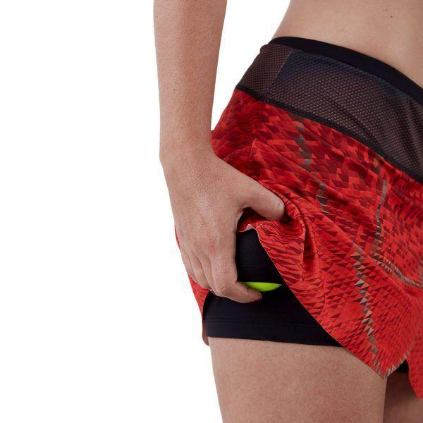 Falda pantalón mujer deporte roja