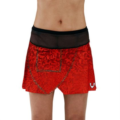 Falda pantalón deporte mujer roja